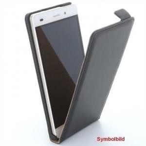 Flip-Style Ledertasche PU Leder für Huawei P9 Lite mit Halterung - Schwarz