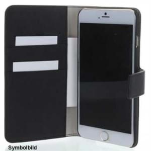 BookStyle Tasche Vertikal mit Halterung für Apple iPhone 7 - Schwarz