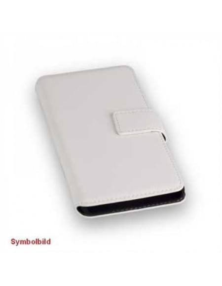 BookStyle Tasche Vertikal mit Halterung für Apple iPhone 7 - Weiß