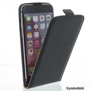 Flip-Style Kunstleder Tasche Vertikal mit Halterung für Apple iPhone 7 / 8 - Schwarz