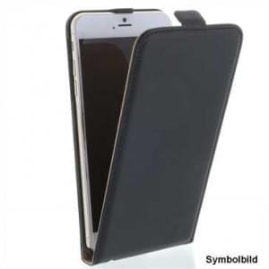 Flip-Style Kunstleder Tasche Vertikal mit Halterung für Apple iPhone 7 Plus - Schwarz