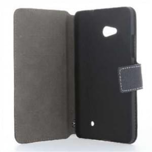BookStyle Ledertasche PU Leder für Huawei Nova Plus Vertikal mit Halterung  - Schwarz