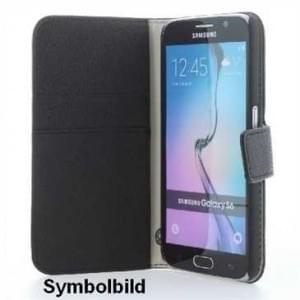 Handytasche Ledertasche PU Leder BookStyle Vertikal für Samsung Galaxy S8 - schwarz