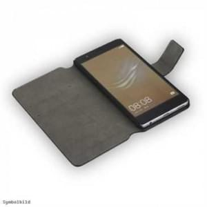 Handytasche Ledertasche PU Leder BookStyle Vertikal für Huawei P10 - Schwarz