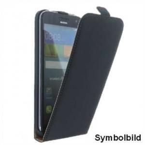 Flip-Style Handytasche Ledertasche PU Leder für Huawei P10 Lite  - Schwarz