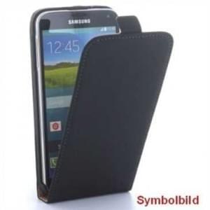 Flip-Style Vertikal Handytasche Ledertasche PU Leder für Nokia 6 - schwarz