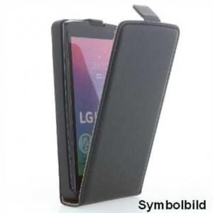 Flip-Style Handytasche Ledertasche PU Leder für LG X-Power 2 - schwarz