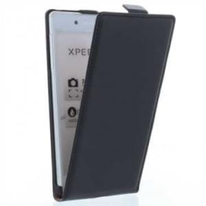 Flip Style Handytasche Ledertasche PU Leder für Sony Xperia XA1 Ultra - schwarz