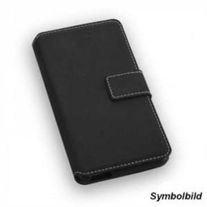 BookStyle Vertikal Handytasche Ledertasche PU Leder für Wiko U Pulse Lite - schwarz