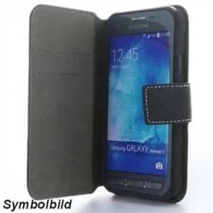 BookStyle Tasche Vertikal mit Halterung für Samsung Galaxy Xcover 4 - schwarz