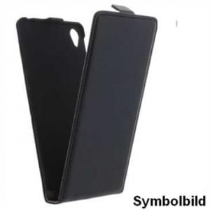 Flip-Style Vertikal Handytasche Ledertasche PU Leder für Sony Xperia XZS - schwarz