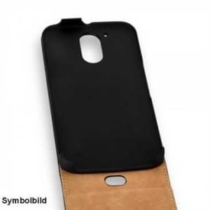 Flip-Style Vertikal Handytasche Ledertasche PU Leder für Motorola Moto G5 Plus - schwarz