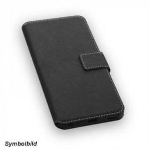 BookStyle Vertikal Handytasche Ledertasche PU Leder für LG X Power 2 - schwarz