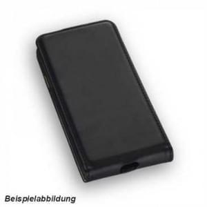 Flip-Style Kunstleder Handytasche Vertikal für Huawei Y7 - schwarz