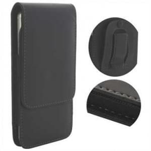 Vertikaltasche mit Gürtelclip + Schlaufe - Innenmaß: 147,5 x 76 x 10 mm (3XL) - schwarz
