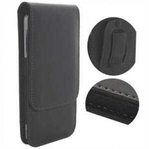 Vertikaltasche mit Gürtelclip + Schlaufe - Innenmaß: 158,2 x 77,9 x 9 mm (4XL) - schwarz