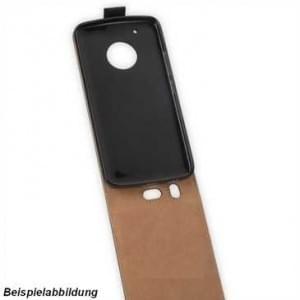 Flip-Style Kunstleder Tasche Vertikal für Motorola Moto G5S Plus - schwarz