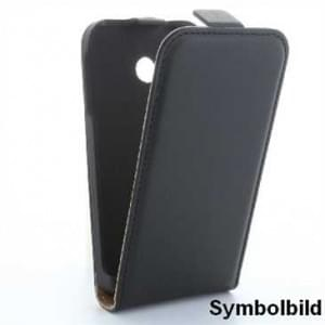 Flip-Style Kunstleder Tasche Vertikal für Huawei Mate 10 Lite - Schwarz