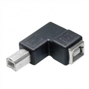 XiRRiX USB Winkeladapter 90° USB Typ B Stecker auf USB Typ B Kupplung