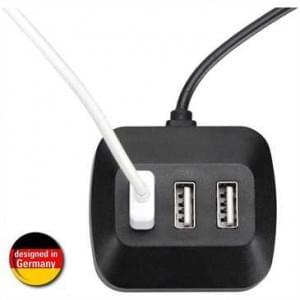XiRRiX Mehrfach-USB-Verteiler für Auto und Motorrad zum Anschluss von bis zu drei USB-Ladekabeln