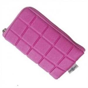 XiRRiX Neopren Digitalkamera Tasche - Style Edition Zipper - Quadrate - 61,1 x 109,9 mm (S) - Pink