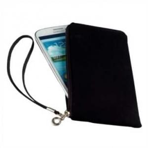 Soft Neopren Smartphone / Handy Universal Tasche mit Reißverschluss - Innen: 141x76 mm (L) - Schwarz