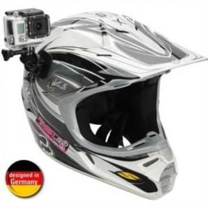 XiRRiX Action Kameras Helm Halterung für gewölbte Flächen für GoPro Hero 4 / 3+ / 3 / 2 / 1 & Co.