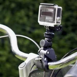 """XiRRiX Fahrrad Motorrad Halterung mit Adapterset für alle Actioncams mit 1/4"""" Gewinde"""