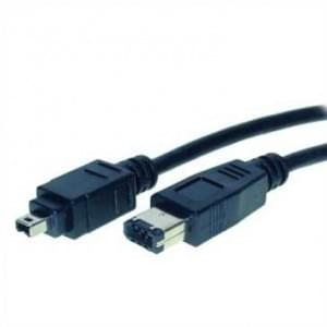 Fire Wire Kabel IEEE 1394 bis 400 MHz, 4-pol Stecker auf 6-pol Stecker - 3,0m