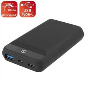 Power Bank Fast Charge 10000mAh Polymer Akku 1x Typ C 1x USB-A Fast Charge 3 Schwarz