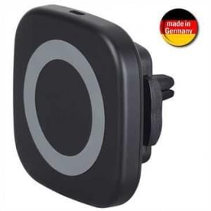 HR Kabelloser Induktiver Kfz-Lader Lüftungsgitter Halter Magnet Halterung Micro USB - Eingang 5V DC 2A (Qi-fähig)
