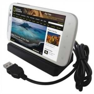 Dockingstation Ladestation (USB) Dock Tischlader Cradle für HTC Sensation XL, Titan - schwarz