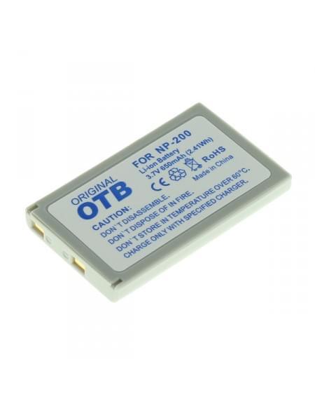 CE zertifiziert Akku, Ersatzakku ersetzt Minolta NP-200 Li-Ion