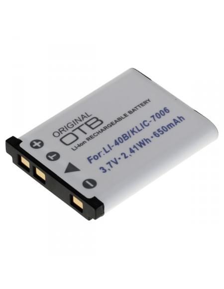 CE zertifiziert Akku, Ersatzakku ersetzt Olympus LI-40B / Nikon EN-EL10 / Fuji NP-45 Li-Ion
