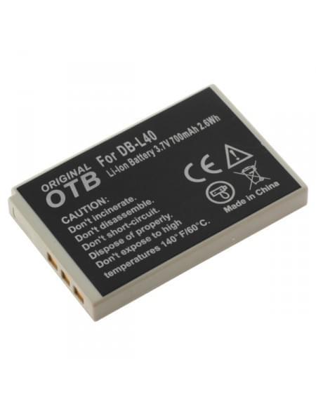 CE zertifiziert Akku, Ersatzakku ersetzt Sanyo DB-L40 Li-Ion