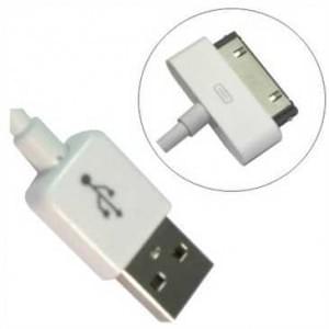 Original Apple USB Lade Datenkabel MA591 30-polig für Apple iPhone, iPad, iPod Weiß