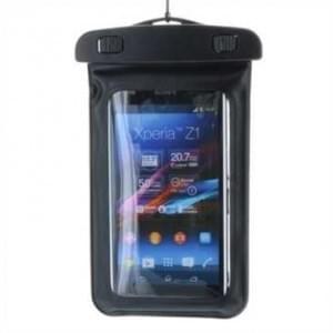 Wasserdichte Universal Tasche mit Tragegurt - Innenmaß: 146,85 x 82,95 x 9,65 mm - Schwarz