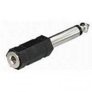 Audio Kompakt Adapter - Klinkenstecker 6,3 mm Mono auf Klinkenkupplung 3,5 mm Mono