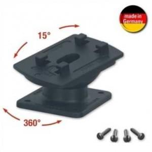 HR 1536 Gelenksockel - schraub + klebbar - in jede Richtung um 15° ankippen / neigen - 360° drehbar