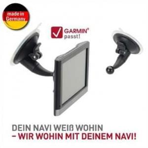 XiRRiX KFZ-Saugerhalterung für Garmin Navigationsgeräte - Sauger Ø 70 mm - Kugel Ø 17 mm - Schwarz