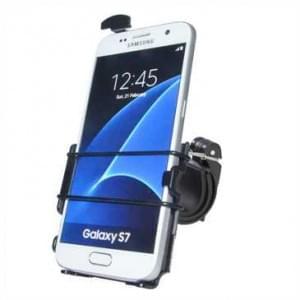 Haicom Fahrrad Motorrad Halter Halterung für Samsung Galaxy S7 / Fahrradhalter - Schwarz