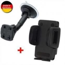 KFZ Halter Suction Mount 3 mit Schnellverschluss + Mini Phone Gripper 6 für Geräte von 37- 82 mm