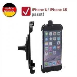 XiRRiX KFZ Lüftungshalterung für Apple iPhone 6 / 6S (passgenau, drehbar, Made in Germany) - Schwarz