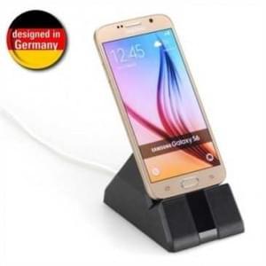 Universal Desktop Docking Station - 5 Ladekabel Adapter - für fast alle Smartphones - Farbe: schwarz
