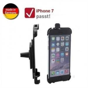 XiRRiX Auto KFZ Lüftungshalterung für Apple iPhone 7 / 8 (drehbar, Made in Germany) - Schwarz