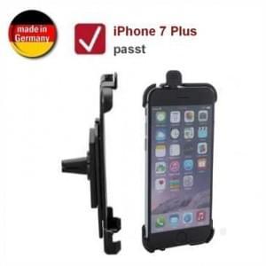 XiRRiX Auto KFZ Lüftungshalterung für Apple iPhone 8 Plus / 7 Plus (drehbar, Made in Germany) - Schwarz