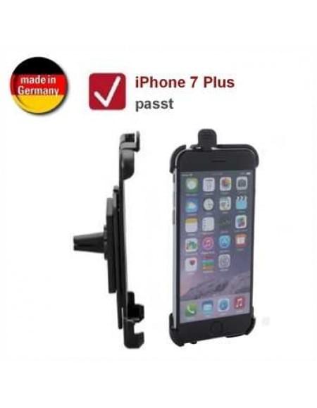 XiRRiX Auto KFZ Lüftungshalterung für Apple iPhone 7 Plus (drehbar, Made in Germany) - Schwarz
