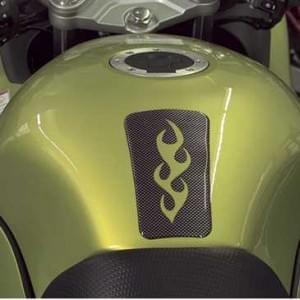 HR Prewoodec Universal Motorrad Moped Bike Tankpad - Flamme - 137 x 85 x 2 mm - Made in Germany