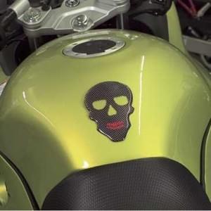 HR Prewoodec Universal Motorrad Moped Bike Tankpad - Totenkopf - 120 x 83 x 2 mm - Made in Germany