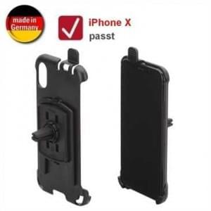 HR KFZ Auto Lüftungshalterung für Apple iPhone X (drehbar) - schwarz